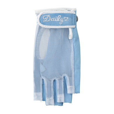 Daily Sports Left Hand Half Finger Sun Glove - Blue Breeze