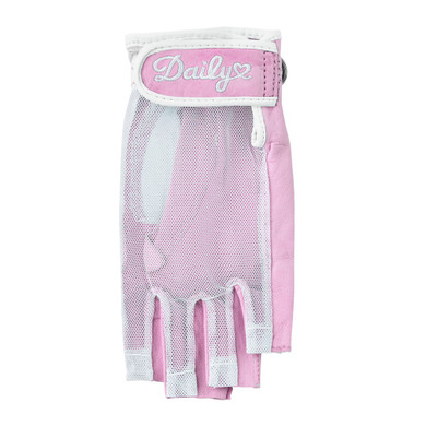 Daily Sports Left Hand Half Finger Sun Glove - Lipstick