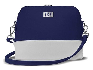Lady Golfer Strap Golf Handbag- Navy/White