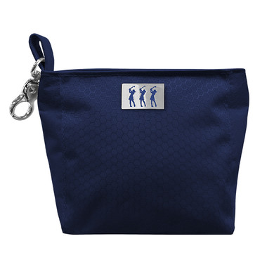 Lady Golfer Honeycomb Design Golf Handbag- Navy