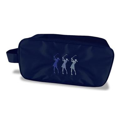 Navy Lady Golfer Shoe Bag