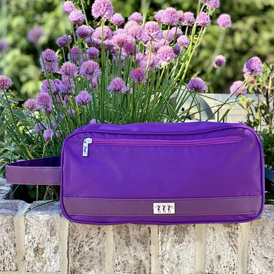 Lady Golfer Honeycomb Design Golf Shoe Bag- Purple