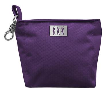 Lady Golfer Honeycomb Design Golf Handbag- Purple