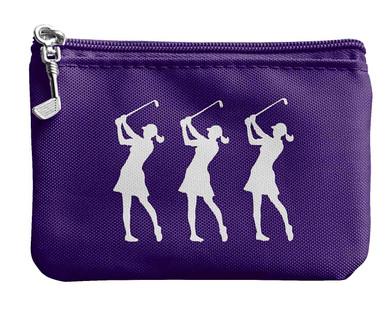 Coin & Card Golf Purse- Purple