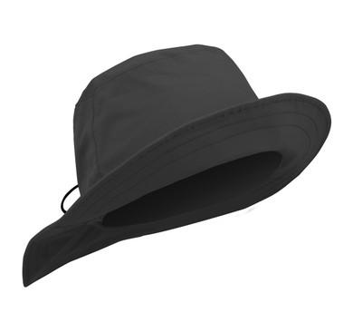 Ladies Golf Waterproof Rain Hat- Black