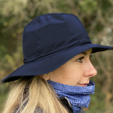Ladies Golf Waterproof Rain Hat- Navy