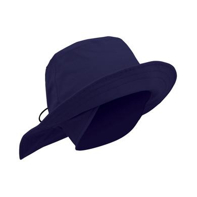 Ladies Golf Waterproof Fleece Lined Rain Hat- Navy