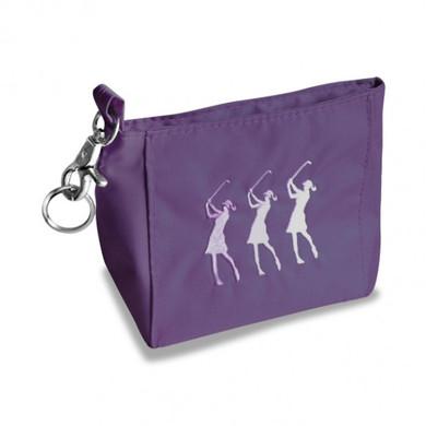 Purple Lady Golfer Hand Bag