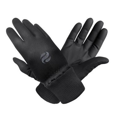 Ladies Golf Polar Stretch Pair of Winter Gloves - Black
