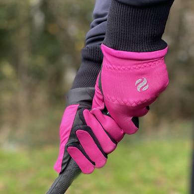 Ladies Golf Polar Stretch Pair of Winter Gloves - Pink