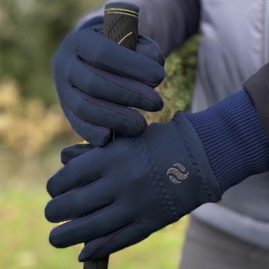 Ladies Golf Polar Stretch Pair of Winter Gloves - Navy