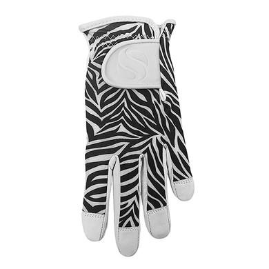 Cabretta Leather Lycra Comfort Stretch Ladies Golf Glove - Zebra