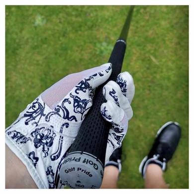 All Weather Ladies Golf Mesh Sun Glove- Navy