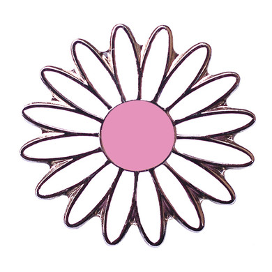 Daisy White and Pink Ball Marker