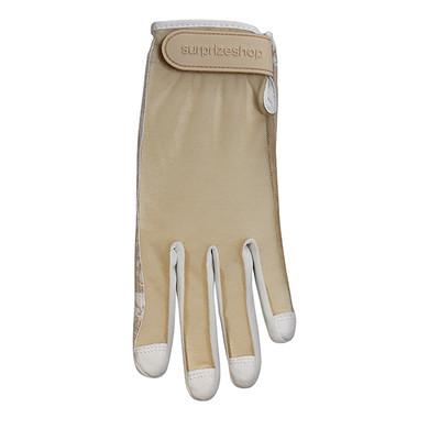 All Weather Ladies Golf Mesh Sun Glove- Mocha