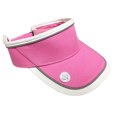 Ladies Golf Velcro Visor with Matching Ball Marker - Pink