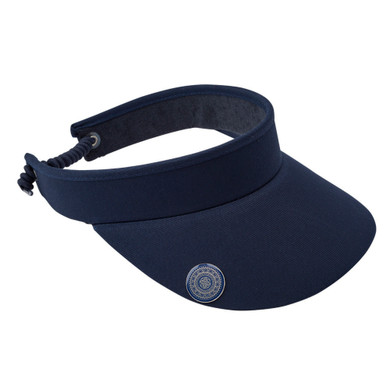Ladies Golf Telephone Wire Visor with Ball Marker -  Navy
