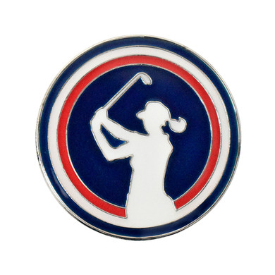 Ladies Lady Golfer Golf Ball Marker and Visor Clip Set