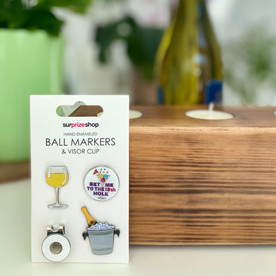 Ladies Boozy Golf Ball Marker and Visor Clip Set