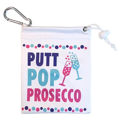 Putt, Pop, Prosecco Ladies Golf Tee & Accessory Bag