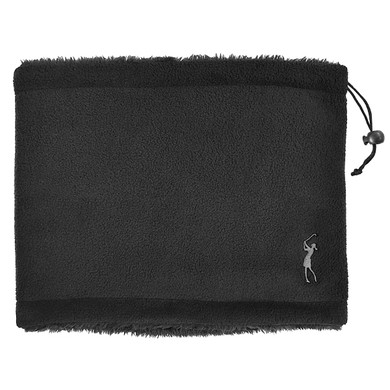 Soft Fleece Lined Womens Golf Snood with Embroidered Lady Golfer- Black