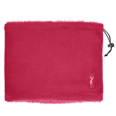 Soft Fleece Lined Womens Golf Snood with Embroidered Lady Golfer- Pink