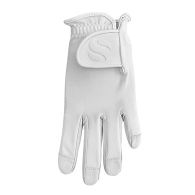 Cabretta Leather Lycra Comfort Stretch Ladies Golf Glove - Ice White