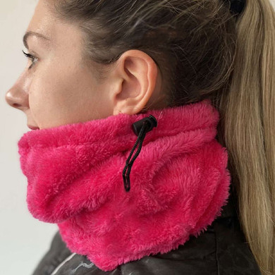 Luxury Super Soft Fleece Lined Womens Golf Snood - Pink