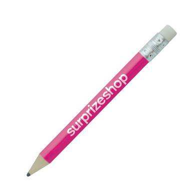 Golf Pencil with Eraser- Pink