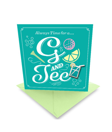 G & Tee' Golf Greeting Card- With Ball Marker Included