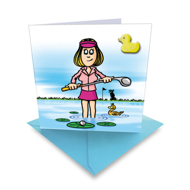 'Lucky Lily' Golf Greeting Card- With Ball Marker Included