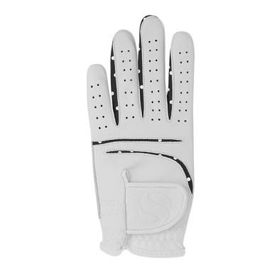 Elegance Ladies All Weather Golf Glove- Black with white Polka Dot Detailing