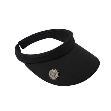 Ladies Golf Clip Visor with Ball Marker - Black