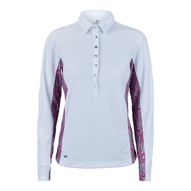 Daily Sports Court Long Sleeeve Polo Shirt - White