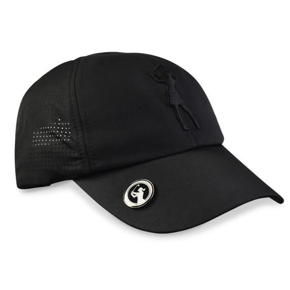Lady Golfer Magnetic Soft Fabric Golf Cap -Black