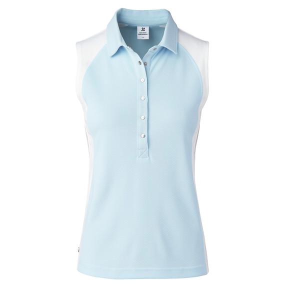 Daily Sports Zenia Sleeveless Polo Shirt - Blue Breeze