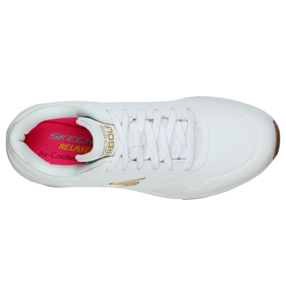 Skechers Ladies Go Golf Skech-Air Spikeless Golf Shoes - White and Gold