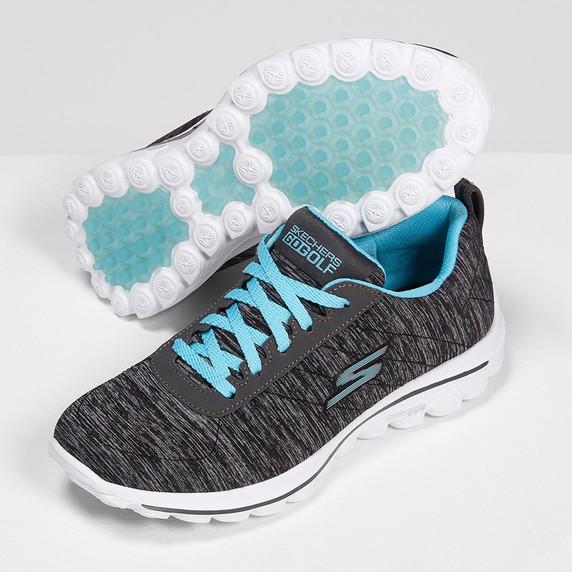 Skechers Ladies Go Golf Walk Sport Spikeless Golf Shoes - Black and Blue