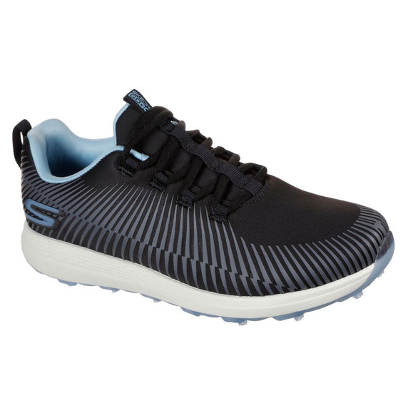 Skechers Ladies Go Golf Max Swing Spikeless Golf Shoes - Black and Blue
