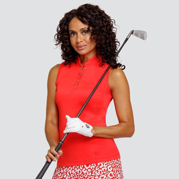 Tail Ladies Golf Cassie Sleeveless Polo - Paprika