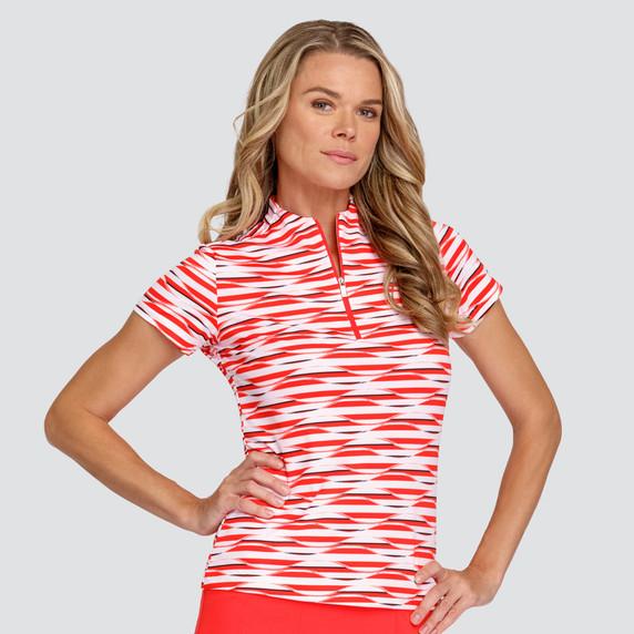 Tail Ladies Golf Christine Short Sleeve Polo - Eternity-Paprika