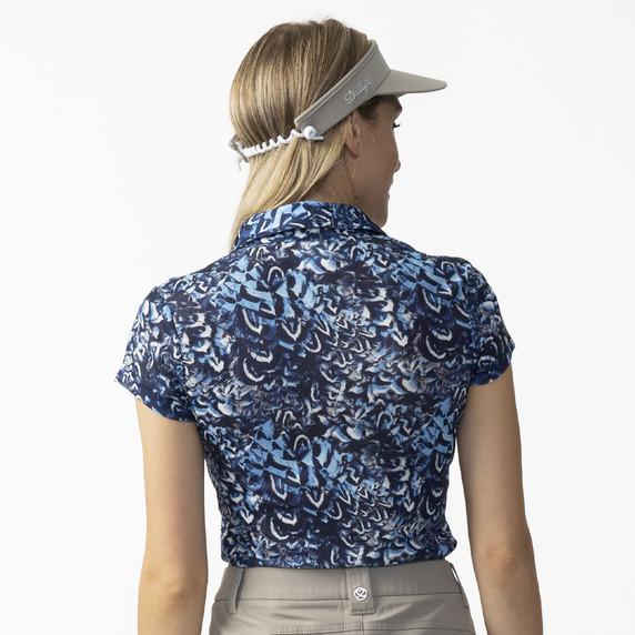 Daily Sports Ladies Silja Sheer Mesh Cap Sleeve Polo