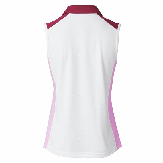 Daily Sports Ladies Roxa Sleeveless Polo - White