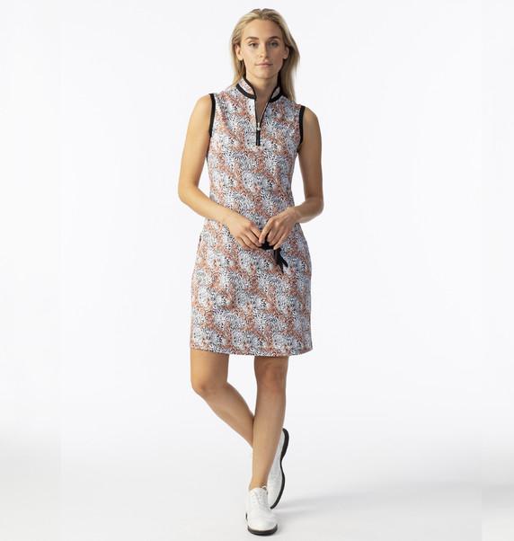 Daily Sports Ladies Leonya Sleeveless Dress- Autumn Leaf