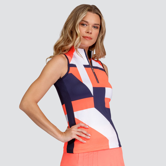 Tail Ladies Golf Lesly Sleeveless Polo - Parallels