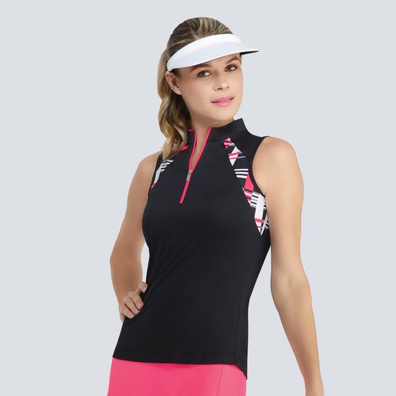 Tail Ladies Golf Karmen Sleeveless Polo - Black