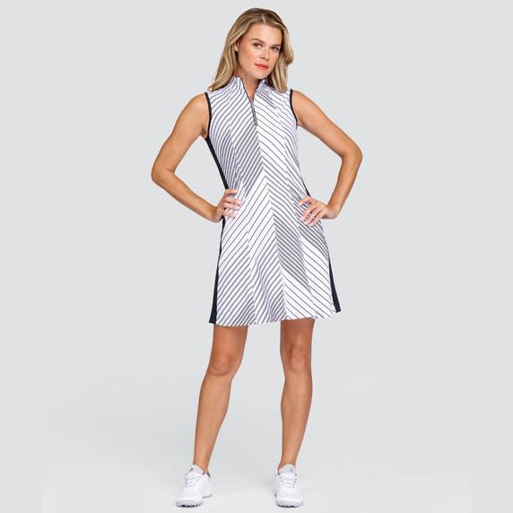 Tail Ladies Golf Sandra Sleeveless Dress - Expedition Stripe