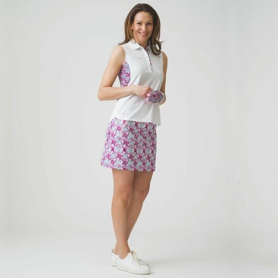 Daily Sports Paisley Azul Blue Ladies Golf Skort 52 CM - Front Lifestyle
