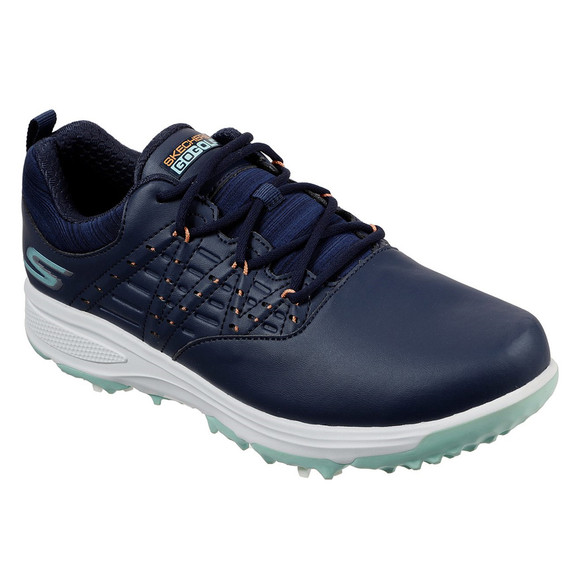 Skechers Ladies Go Golf Pro 2 Soft Spike Waterproof Golf Shoes - Navy and Turquoise