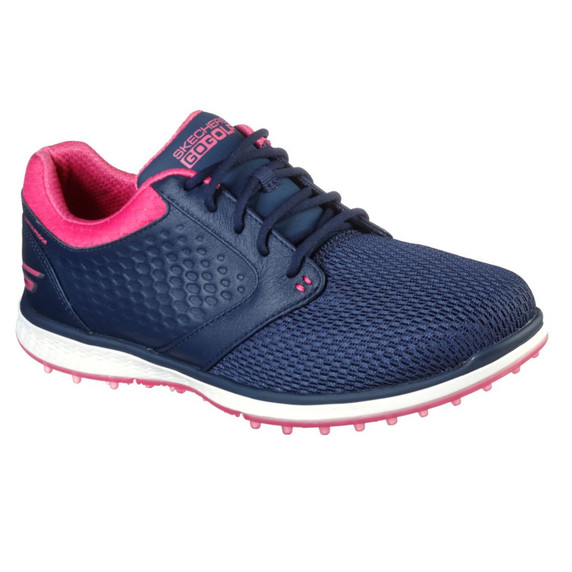 Skechers Ladies Go Golf Elite 3 Grand Waterproof Golf Shoes- Navy and Pink